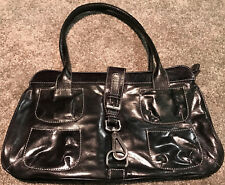 HYPE Women's Black Leather Multi Pocket Purse NEW