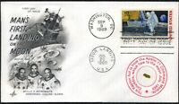 Apollo 11 FLOWN Kapton Foil on a Beautiful First Man on the Moon First Day Cover