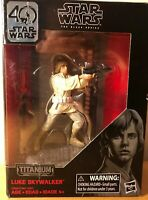 Star Wars Black Series 40th Anniversary Luke Skywalker Titanium Series NIB
