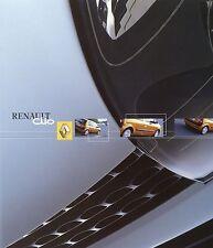 Prospectus 2001 renault Clio autoprospekt 8 01 auto voitures France car brochure