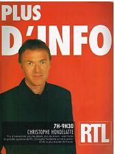 Publicité Advertising 2006 Radio RTL avec Christophe Hondelatte