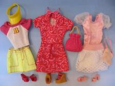 Barbie Fashionista Casual Vacation Tennis Dress Wedge Shoes Lot of 3 Outfits