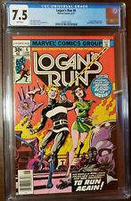LOGAN'S RUN #6 1ST THANOS SOLO STORY BY MIKE ZECK WHITE PAGES CGC 7.5