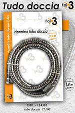 Blister ricambio tubo doccia tubo flessibile cromato 1,5 mt