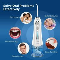Cordless Water Flosser for Teeth Cleaner Dental Oral Irrigator with 5 Jet Tips
