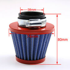 38mm STEEL AIR FILTER CLEANER FOR MOTORCYCLE DIRT PIT BIKE QUAD ATV RED