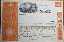 'St. Joe Minerals Corporation' 1970 Mining Stock Certificate