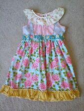 Matilda Jane girls sleeveless summer dress with ruffle hem size 8