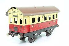 Blechspielzeug Spur 0 Fleischmann Personenwagen rot/beige US-Zone antik GUT