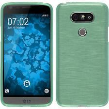 Funda de silicona LG G5 brushed - verde Cover