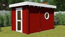 Saunahaus Gartensauna Sauna 2.4x3.6M Außensauna 45mm Helsinki EB45001F28ISOL