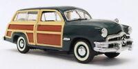 Franklin Mint 1/43 Scale Model Car B11KE17 - 1950 Ford Woody Wagon - Green