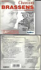2 CD 28T CHANTONS BRASSENS 1 CD CHANTE, 1 CD INSTRUMENTAL RENAUD/SOUCHON/CABREL