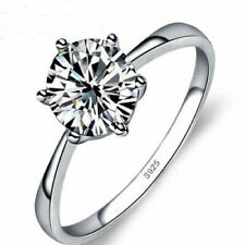 Women's 2 Ctw Princess Cut 925 Sterling Silver CZ Wedding Engagement Ring Set