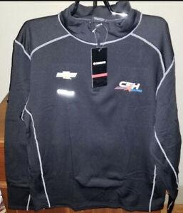 CFH Racing Chevrolet Men's Grid Quarter Zip Pullover NWT Black 2XL