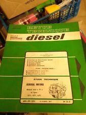 REVUE TECHNIQUE DIESEL TRACTEURS N°53D GENERAL MOTORS MOTEURS SERIE 71