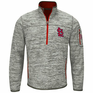 G-III Sports St. Louis Cardinals Men's Fast Pace Half Zip Jacket - Gray