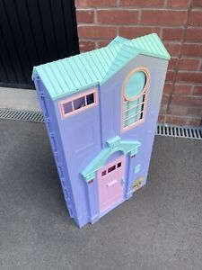 BARBIE TOWNHOUSE FOLD OUT PURPLE TOWN HOUSE VINTAGE RARE