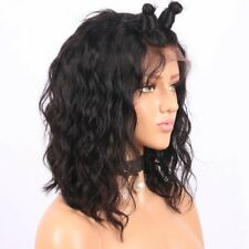 8A 130% Density Unprocessed Brazillian Lace Front Curly Human Hair Wig 14inches