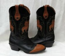? Brand Women's Black Brown Leather Cowboy Western Rodeo Boots size US 8.5