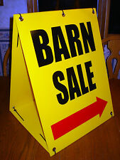 BARN SALE WITH ARROW Sandwich Board Sign 2-sided Kit NEW yellow