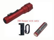 Red UltraFire WF-502B CREE XM-L2 U3 LED 1 Mode Flashlight + Battery +Charger Kit