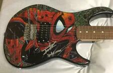 "Tom Holland signed Peavy Spiderman guitar with ""Spider-man""  inscription"