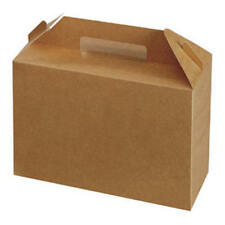 Bakery Box Brown Kraft White Carry Food Favour Birthday Gift Party | Large Small