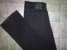 Mens LEVIS 559 RELAXED STRAIGHT Black Denim Stretch Jeans Oversized Size 34x36