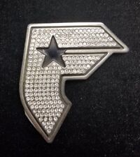 Famous Stars & Straps F Gun Look Silver & Rhinestone Metal Belt Buckle Mens and