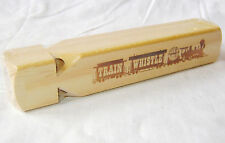 NEW WOODEN TRAIN WHISTLE - MAKES A NOISE LIKE A REAL TRAIN! TRADITIONAL TOY HOM