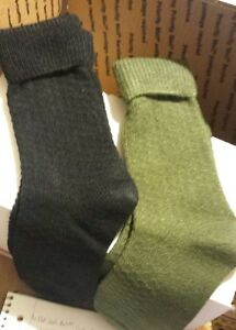 Cuffed Textured  Boot Sock One Size Sweater Knit Tweed New FREE GIFT W/P