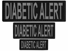 DIABETIC ALERT  Patch Reflective Extra Label Tag for Dog Harness Service