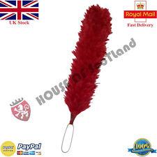 "Feather Bonnet Plume Hackle Red Color 12"" Glengarry Hat Cap Balmoral Metal Loop"