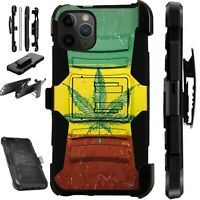 For iPhone 11/X/8/7/6 PRO MAX PLUS Phone Cover Case WEED FLAG LuxGuard
