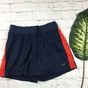 Champion Women's Sz S Blue Shorts Red Stripe Drawstring Running Track Exercise