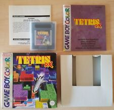 NINTENDO GAME BOY COLOR - TETRIS DX COMPLETE BOX + MANUAL CIB * RARE *