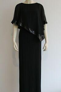 Lagerverkauf Joseph Ribkoff Kleid mit Überwurf  schwaz 154377 Gr.38  UVP 319,95