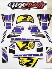 Kit Deco sticker moto cross BLUE VINTAGE pour YAMAHA PW 50 PW50 Qualité Premium