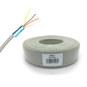 50m Telefonkabel 2 x 2 x 0,6 mm 4 Adern Telefon Kabel Verlegekabel Leitung 2x2
