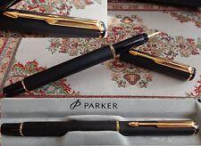 Parker Rialto Füllfederhalter (F)  Farbe : -schwarz-matt