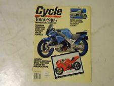 JANUARY 1990 CYCLE MAGAZINE,TOKYO SHOW,YAMAHA MORPHO,HONDA NR750,SUZUKI SW-1,AMA