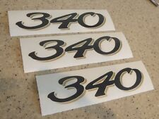 Sea Ray Vintage Boat Model Number Decals Black/Gold FREE SHIP + FREE Fish Decal!