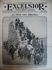 WW1 RAVITAILLEMENT A SALONIQUE LA TOUR DE BISCUIT JOURNAL EXCELSIOR 28/12/1915