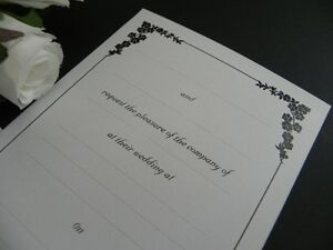 Floral Vine DIY Invitations Wedding - Engagement - Event - Party - 25 Pack
