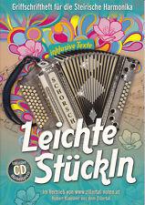 Leichte Stückln Noten für Steirische Harmonika inkl. CD Hubert Klausner