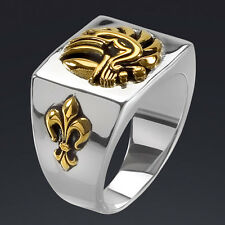 FRENCH FOREIGN LEGION SOLDIER SILVER 925 RING with 24K-GOLD-PLATED PARTS