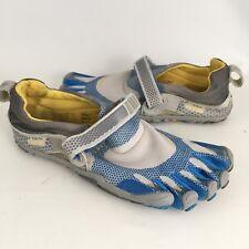 Vibram Fivefingers Barefoot Running Shoes W346 Blue Gray Women's 38 US 6.5 - 7