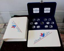 1992 Canada 125th Anniversary commemorative set 12 Coin Silver 25 Cents