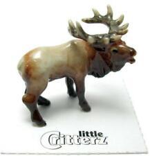 More details for little critterz miniature porcelain animal figure bugling elk